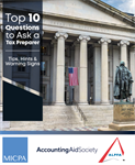 10 Questions to Ask a Tax Preparer
